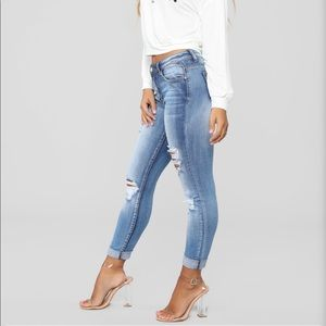 Fashion Nova Jeans Been Through It All Distressed
